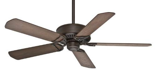 54 Panama 5 Blade Ceiling Fan with Remote - Finish: Brushed