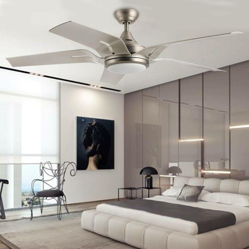 56 indoor ceiling fan brushed nickel led