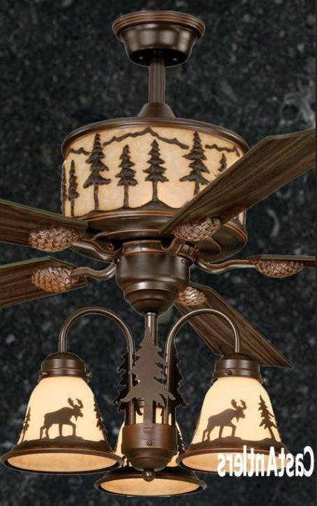 56 lodge rustic cabin country ceiling fan