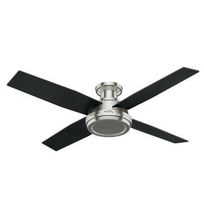 "Hunter 59247 52"" Ceiling Fan - 4 Reversible Blades and Remot"