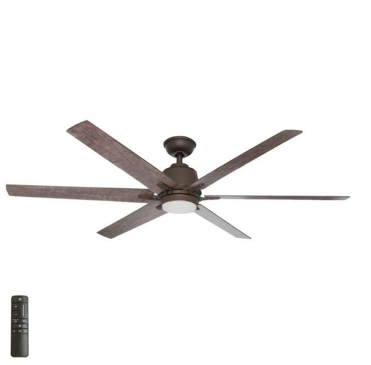 64 inch espresso ceiling fan with led