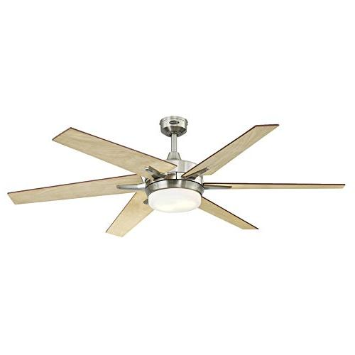 Westinghouse Cayuga 60-inch Ceiling Fan, Dimmable Light with Frosted Glass