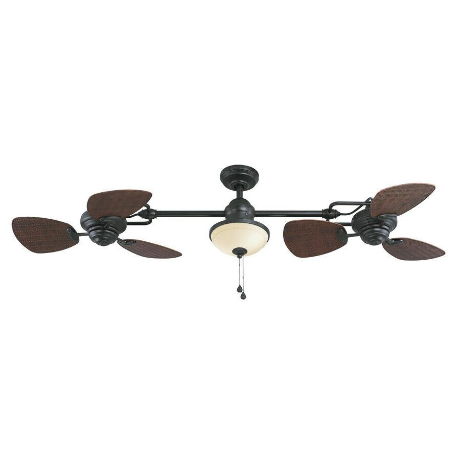 """Outdoor/Indoor Ceiling Fan 74"""" Dual Double Blades Porch Pati"""