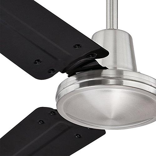 7800300 Indoor Ceiling Brushed Nickel Finish with Black Steel