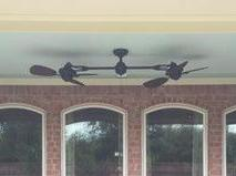 Harbor Breeze Twin Breeze Ii 74-in Outdoor Ceiling Fan