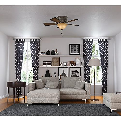 Hunter 51023 42-Inch Onyx Ceiling Fan with Five Blades Kit