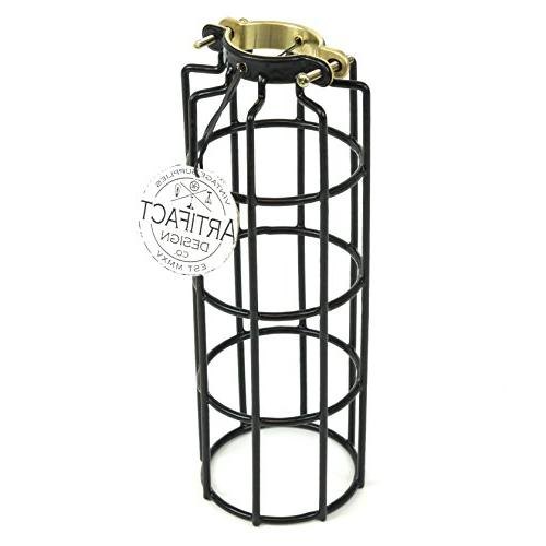 Industrial Design Elongated Metal Wire Cage Lamp Guard by Ar