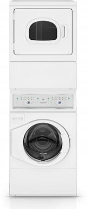 Speed Queen ATEE9AGP Electric Stacked Washer/Dryer with 9 Wa