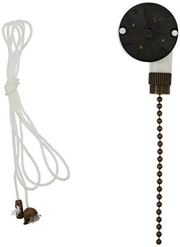 Westinghouse Antique Brass Replacement 3-Speed Fan Switch 77