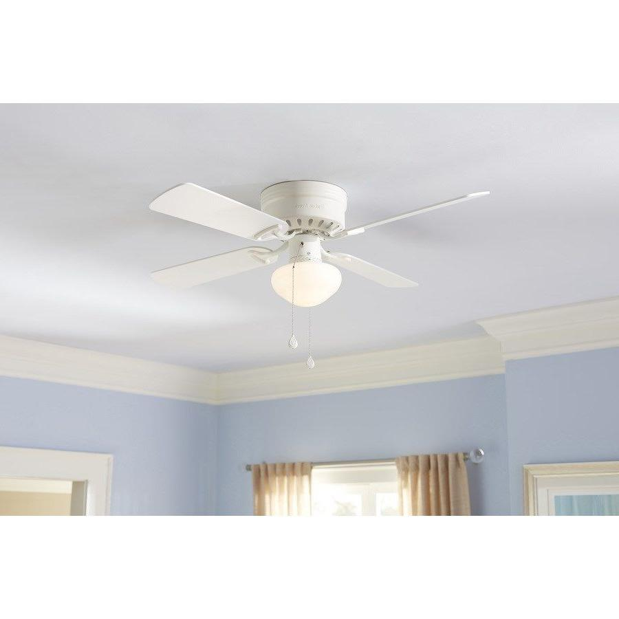 Harbor Breeze Armitage 42-in White Flush Mount Indoor Ceilin