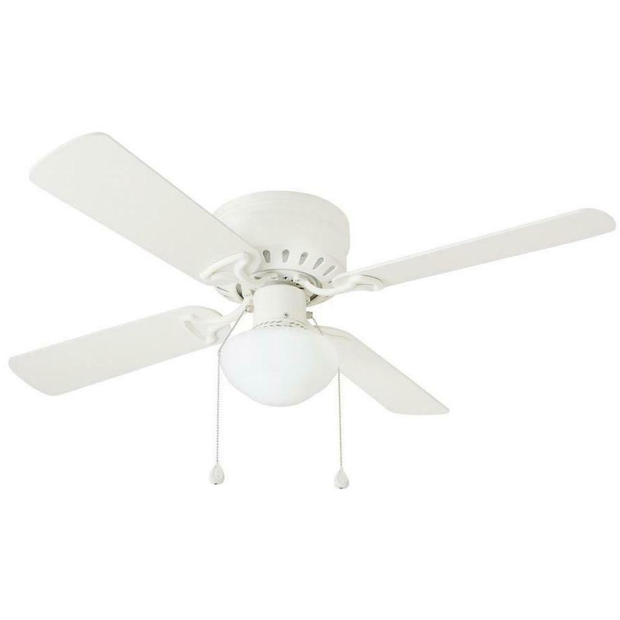 Harbor Breeze 42 in WHITE Flush Mount Indoor Ceiling Fan wit
