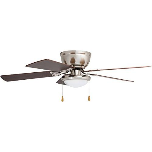Prominence Home 40270-01 Brealey Hugger Ceiling Fan LED Bowl Low-Profile, 52 inches, Nickel