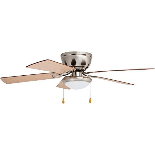 Prominence Hugger Fan LED Light, Low-Profile, 52 inches, Nickel