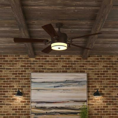 Ceiling Fan Indoor Bronze Organza Shade Light