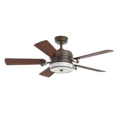 Ceiling Fan Indoor Bronze Shade Light Remote Control