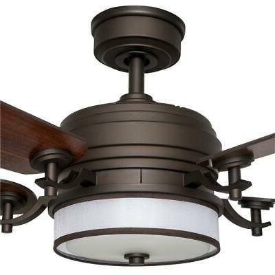 Ceiling Fan Indoor Bronze Light Kit Remote