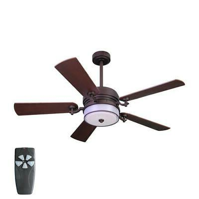 ceiling fan 52 in indoor bronze organza