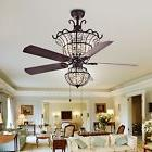 Charla 4-light Crystal 52-inch Chandelier Ceiling Fan