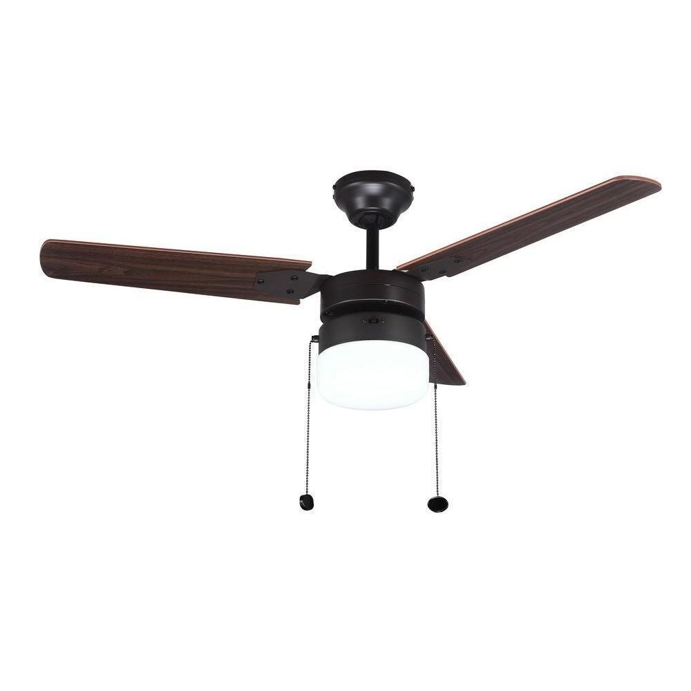 Ceiling Fan with Light Kit Indoor Oil Rubbed Bronze Vintage
