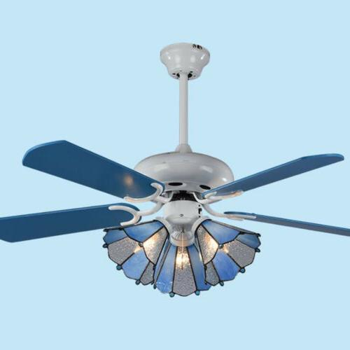 Ceiling Fan chandelier Household Tri-color Dimming Bedroom P