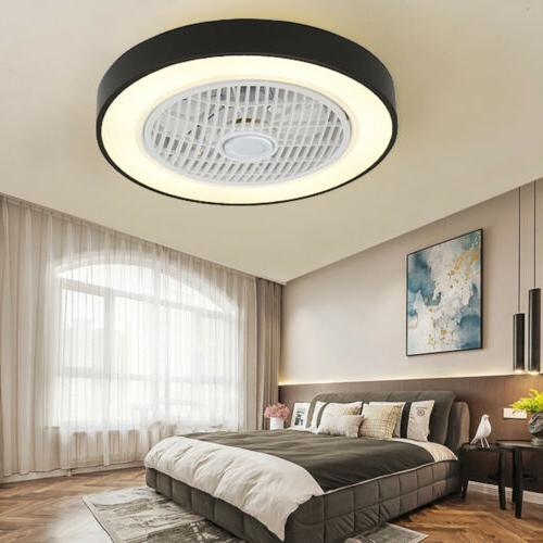 "22.6"" LED Ceiling Fan Light 3 Speed Change Remote Modern Cha"