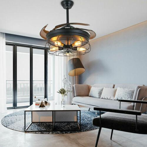 Ceiling Industrial Blades Cage Chandelier