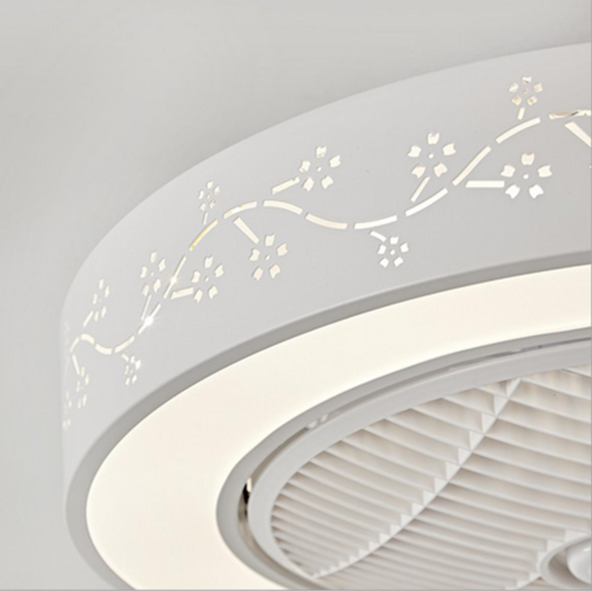 Ceiling Fan With Remote Control Flower Dimmable Bedroom