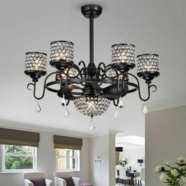 ceiling fan with lights crystal chandelier light
