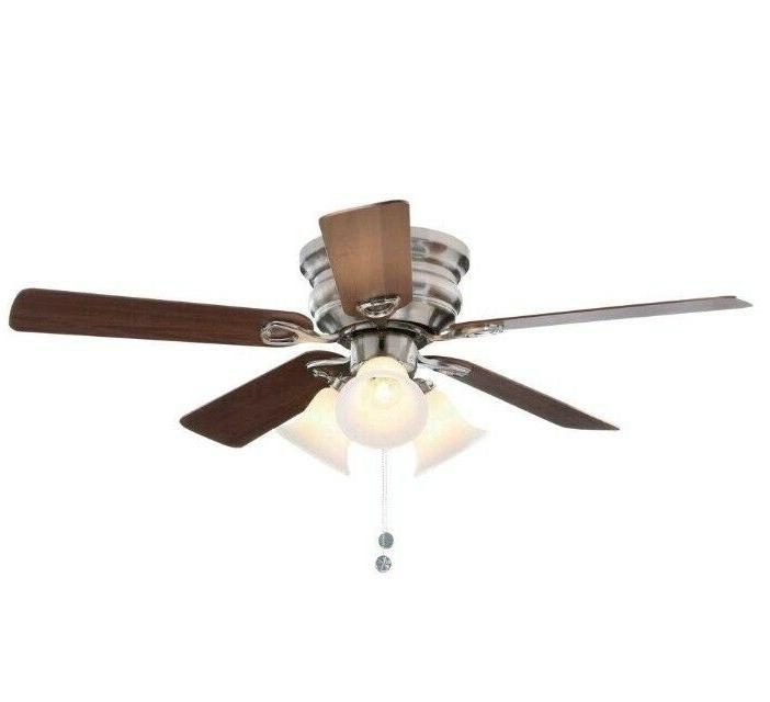 44 In. Brushed Nickel Ceiling Fan With Light Kit 5 Blades Ma