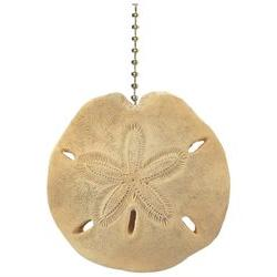 Coastal Sand Dollar Decorative Ceiling Fan Light Pull 3 Dime
