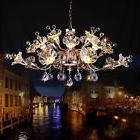 Creative Continental Iron glass Crystal chandeliers LED livi