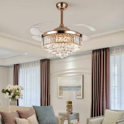 Crystal Invisible Ceiling Light Lamp w/
