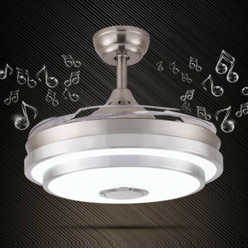 """144 LED Remote Invisible Blades 42"""" Ceiling Fan Light W/ Blu"""