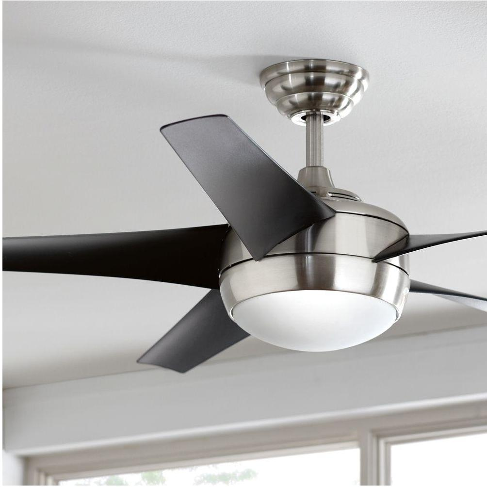 NEW Elegant Brushed Nickel 52 Inch Indoor Ceiling Fan w/ 5 B