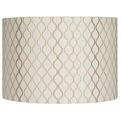 Embroidered Hourglass Lamp Shade 16x16x11