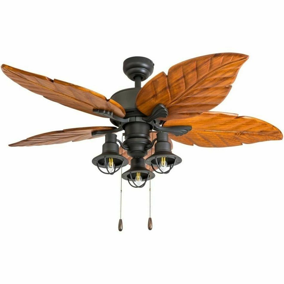 farmhouse chandelier ceiling fan 3 light fixture