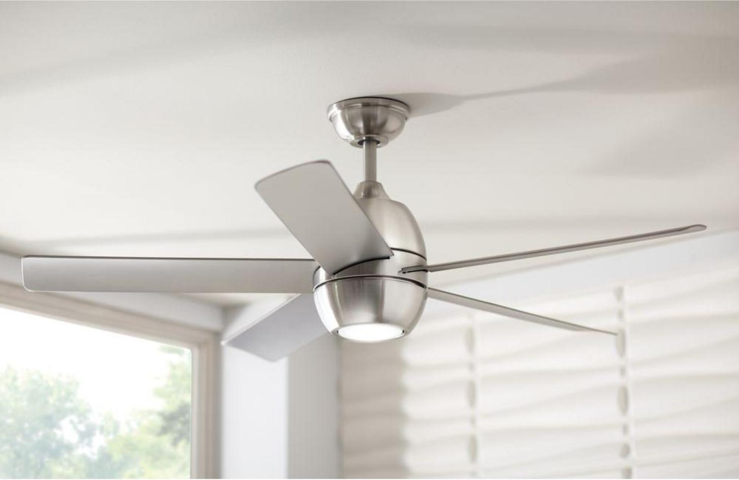 Home Decorators Collection Greco III 52 in. LED Brushed Nick