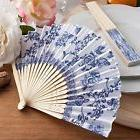 6 X Hand Held Folding Elegant French Country Design Fans Wed