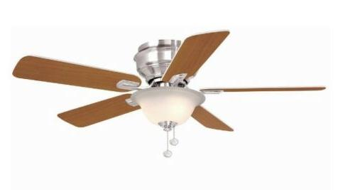 hawkins 44 in brushed nickel ceiling fan