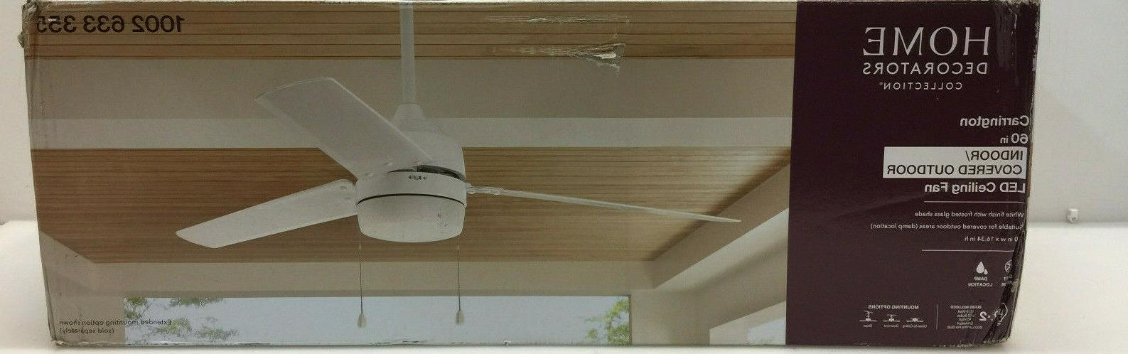 hdc carrington 60 in integrated led indoor