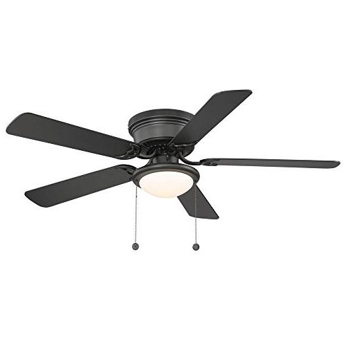 Hampton Bay in. Black Ceiling Fan - - Reversable Blades