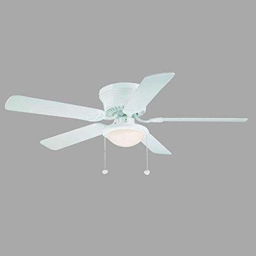 Hampton Bay Hugger 52 in. White Ceiling Fan w/ Reversible Wh