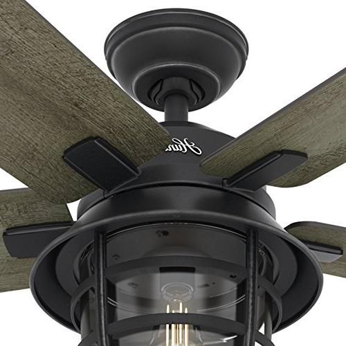 Zinc Outdoor Ceiling Fan with LED Remote Control,