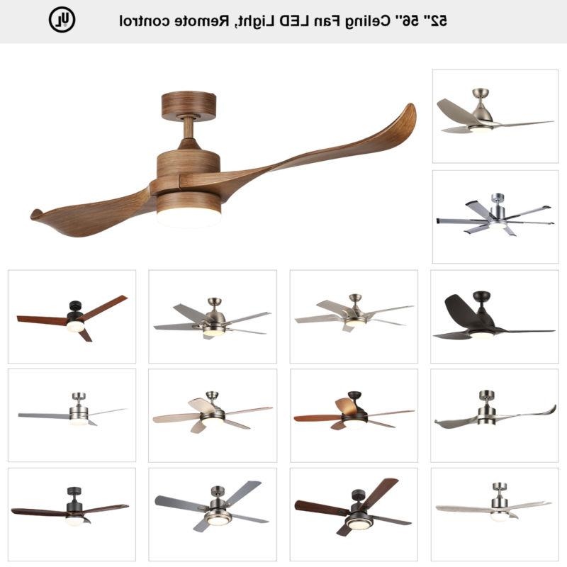 Indoor Ceiling Fan 15W LED Light With Remote Control 2 3 4 5
