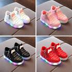 New Kids Boys Girls LED Shoes Light Up Luminous Children Tra