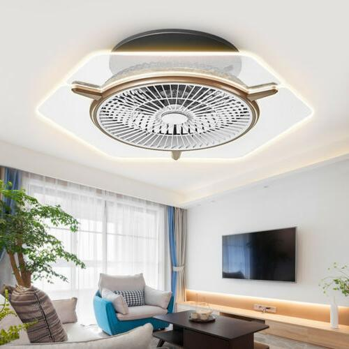 "22"" Ceiling Fan LED Transparent Light kit 3 Color Change Lam"