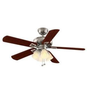 Hampton Bay Lyndhurst 52 in. Brushed Nickel Ceiling Fan with