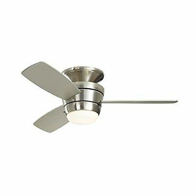 mazon 44 in brush nickel flush mount indoor ceiling fan led