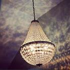 Pottery Barn Mia Faceted Chandelier Crystal Empire Pendant L