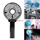 Mini Portable Foldable Handheld Cooling Fan 18650 Battery Op